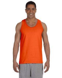 Gildan mens Ultra Cotton 6 oz. Tank(G220)-ORANGE-M]()