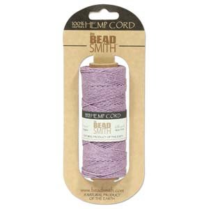 Hemp Twine Bead Cord 1mm 197 Feet PURPLE 42667 ()