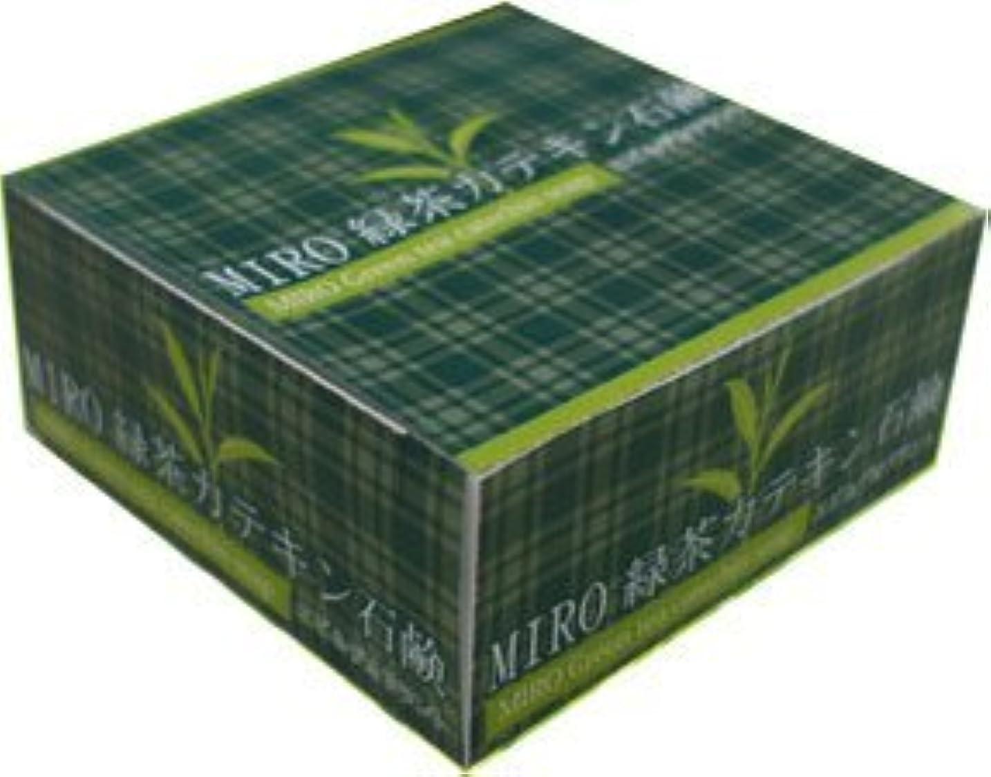 より平らな火昇進【MIRO 緑茶カテキン石鹸】 wm