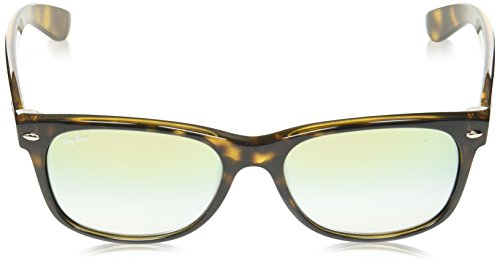 Ray-Ban Mens New Wayfarer Square Sunglasses, Havana, 54 mm