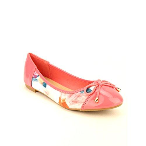 Cendriyon Rose Femme Chaussures Floral Paint Ballerine 11O6rq7