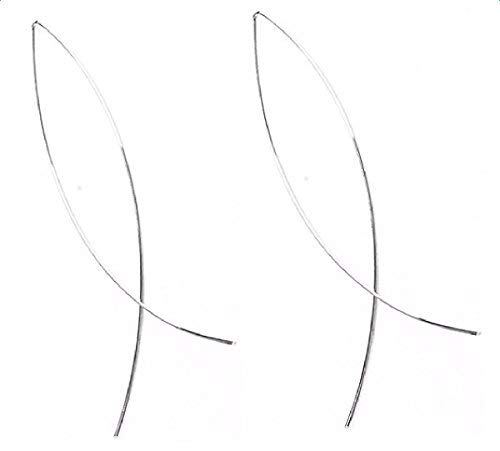 Hosaire Threader Wire Earrings Fish Curved Line Vintage Punk Simple Geometric Club Earrings Silver