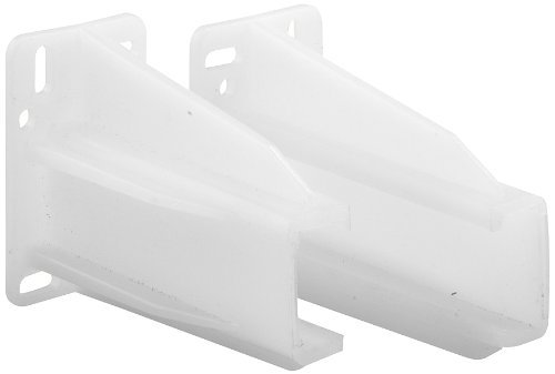 Prime-Line Products R 7227 Drawer Track Back Plate, 5/16 in. x 7/8 in., Plastic, White, 1 Pair (1 LH, 1 RH) by Prime-Line Products
