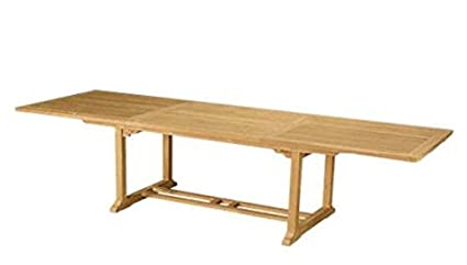 Amazoncom Anderson Teak Bahama Rectangular Extension Table - 10 foot outdoor dining table