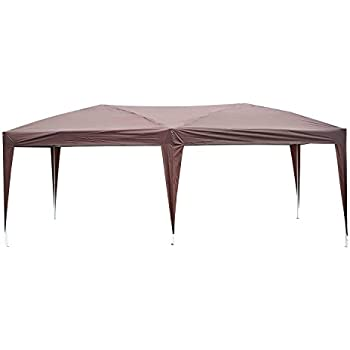 Outsunny Easy Pop Up Canopy Party Tent 10-Feet x 20-Feet  sc 1 st  Amazon.com : brown canopy - memphite.com
