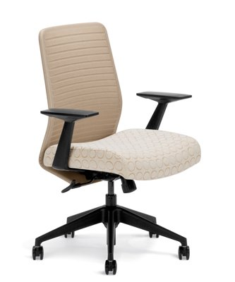 Highmark HB 7107K-S2-A40 Knit-Back Swivel Tilt Chair Seat Bl