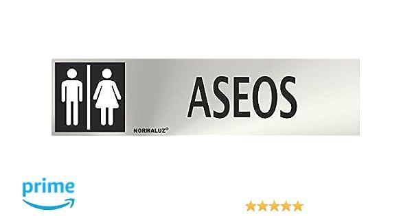 Normaluz RD707008 - Señal Adhesiva Rectangular Aseos Unisex ...