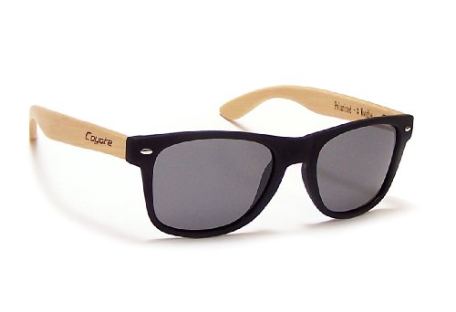 Coyote Eyewear Woodie Polarized Sunglasses with Natural Temples, - Coyote Sunglasses