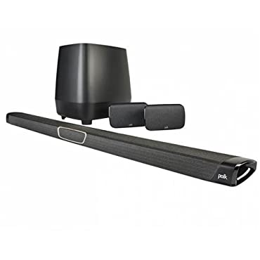 Polk Audio MagniFi MAX SR Maximum-Performance True 5.1 Home Theater Sound Bar System, Black (AM8414-A)