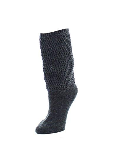 Natori Women's Wool-blend Boot Topper Socks | Boot Socks Dark Grey Heather NTF6 5600 One Size 9-11