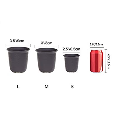 T4U 3 Inch Plastic Round Plant Pot/Cactus Flower Pot/Container Brown Set of 10,Seeding Nursery Planter Pot with Drainage for Flowers Herbs African Violets Succulents Orchid Cactus Indoor Outdoor: Garden & Outdoor