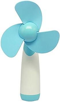 Demarkt Al Aire Libre personales de Mano portátil con Pilas del Mini Ventilador de Aire Fresco para el hogar y el Recorrido(Color Azul