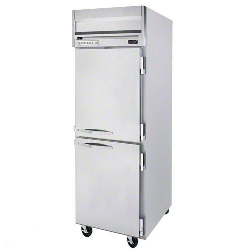 Beverage-Air HF1-1HS 26'' Horizon Series One Section Solid Half Door Reach-In Freezer 24 cu.ft. capacity Stainless Steel Front Gray Painted Sides Aluminum