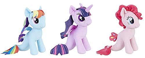 My Little Pony The Movie Sea-Pony Cuddly Plush (Mermaid Ponies 3-Pack) Rainbow Dash, Pinkie Pie, & Twilight Sparkle]()