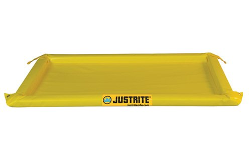 Justrite Manufacturing Company LLC 28421 - Maintenance Spill Berm - PVC coated fabric, Yellow, 54 in Wide, 102 in Long