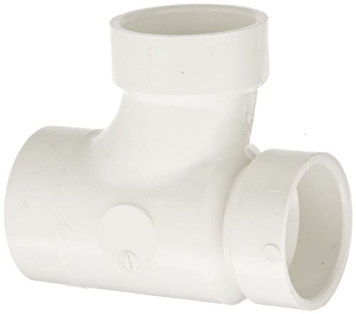 Spears P404 Series PVC DWV Pipe Fitting, Reducing Sanitary Tee, 2