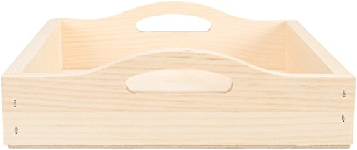 Walnut Hollow 24648 Unfinished Wood Serving Tray for Weddings, Home Decor and Craft Projects, 10