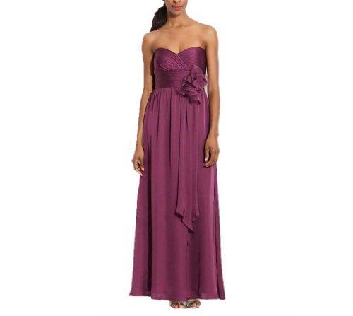 Linie Brautjungfernkleider Damen Kleidungen Ausschnitt Chiffon Aermellos Bild Herz Wie Knoechellang Dearta Etui x41HwR