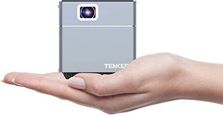 TENKER S6 Mini Cube Pico Projector with...