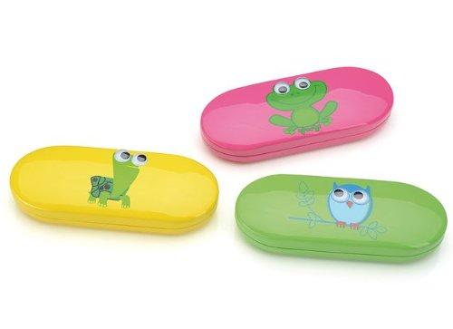 Étui à lunettes pour enfants < Yeux >                      Grenouille–Chouette–Tortue pink (Frosch) gelb (Schildkröte)