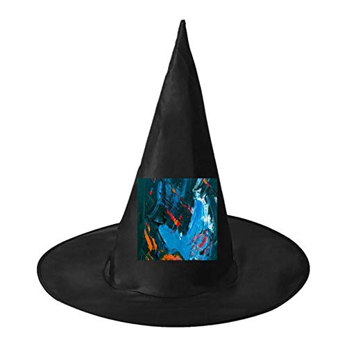 Abstract Fish Unisex Halloween Witch Role Playing Wizard Hat for Costume -