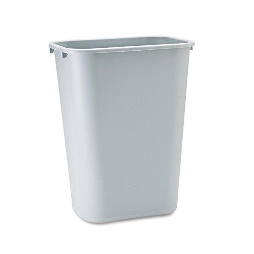 Standard Wastebaskets (Rubbermaid Standard Deskside Wastebasket - 10.31 gal Capacity - Rectangular - 20quot; Height x 11quot; Width x 15.3quot; Depth - Polyethylene - Gray)