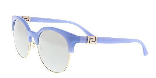 Versace Women's VE4326B Opal Azure/Pale Gold/Light Grey Mirror Gradient Silver - Versace Sunglasses Clear