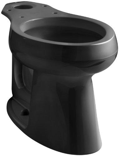 Kohler K-4199-L-7 Highline Comfort Height Elongated Bowl, with Lugs, Black Black