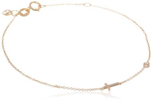Shy by SE Cross Bracelet with Diamond Bezel
