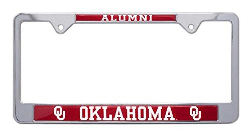 All Metal NCAA OU Sooners Alumni License Plate Frame (Oklahoma)