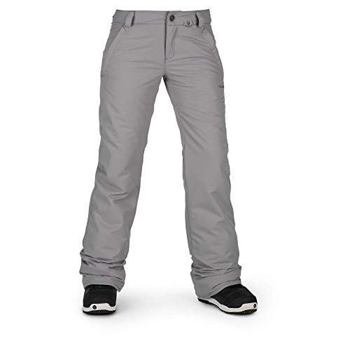 - Volcom Women's Frochickie Insulated Lined Snow Pant, Charcoal, Extra Small