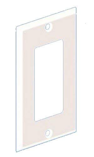 Panduit MP1GRWH Metal Single Gang Rectangular Faceplate, 600 Voltage, White ()