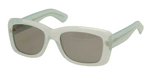 Yves Saint Laurent Womens Rectangle Sunglasses (Green/Translucent)