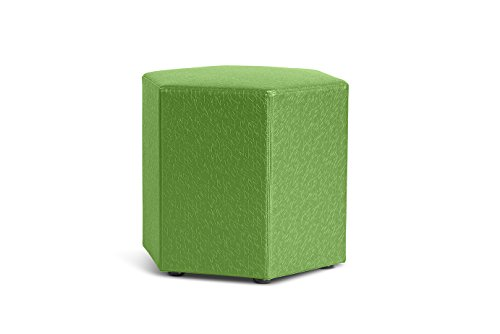 Logic Furniture HONEYCU18 Honeycomb Ottoman, 18'', Cucumber by Logic Furniture