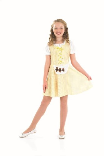[Goldilocks Bear Girls Childs Fancy Dress Costume - L 54inch Height] (Childrens Fancy Dress Costumes Uk)