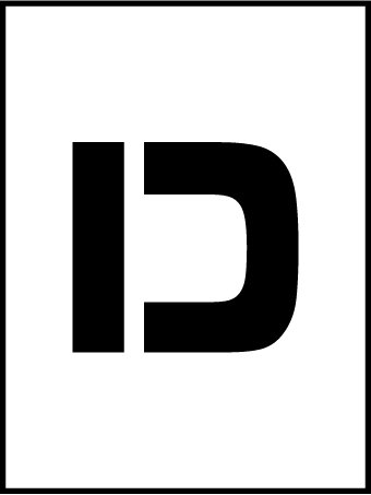 NMC PMC36-D 36''Stencil Letter ''D'', Pack of 5 pcs by National Marker