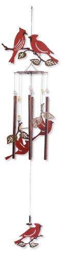Cheap Sunset Vista Designs Garden Essentials Birds of a Feather Cardinals Wind Chime, 36-Inch Long