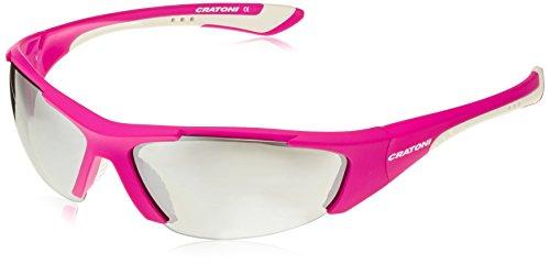 unique avec flash lunettes Matt taille vélo White Pink Cratoni de ng6TvYqn