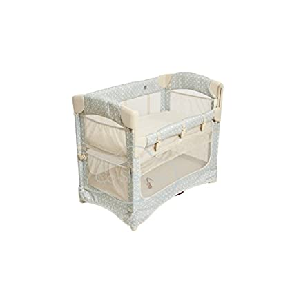 Image of Arm's Reach Concepts Mini Ezee 2-in-1 Bedside Bassinet - Turquoise Geo Baby