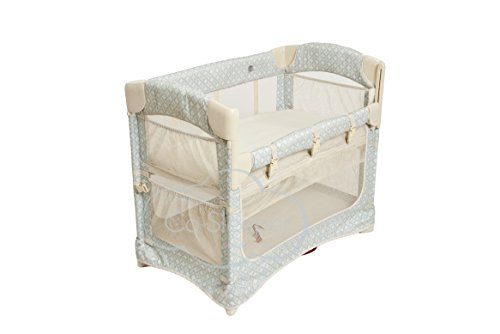 Arm's Reach Concepts Mini Ezee 2-in-1 Bedside Bassinet - Turquoise Geo