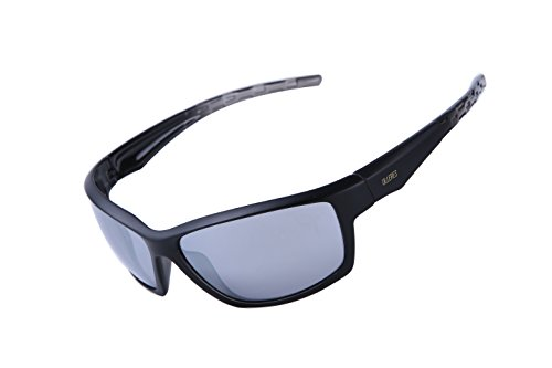 ULLERES Sports Sunglasses for Men or Women Cycling Driving Hiking Unbreakable Shades (Black, - For Baseball Prescription Glasses