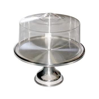 Amazon Com Stainless Steel Cake Stand With Acrylic Cover
