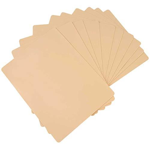 Zhi Jin 15Pcs Blank Tattoo Practice Skin Sheet Fake Skins for Needle Machine Supply Kit Set 15x20cm