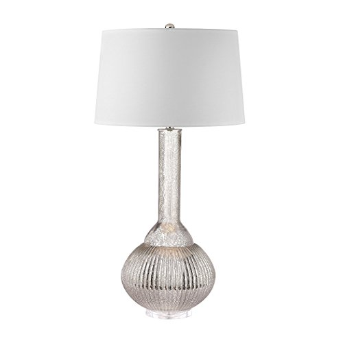 Bellacor Table Lamp Jar - Elk Lighting D2868 Juju Jar Lamp Antique Mercury, Clear, Silver