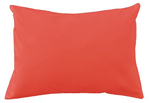 (Cotton Toddler Pillowcase (Solids and Polka Dots) (Red))