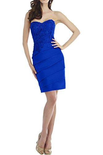 Kurz Mini Blau Abendkleider Traegerlos Braut Ballkleider Cocktailkleider Etuikleider Marie Tanzenkleider La Royal Ex1gq68S