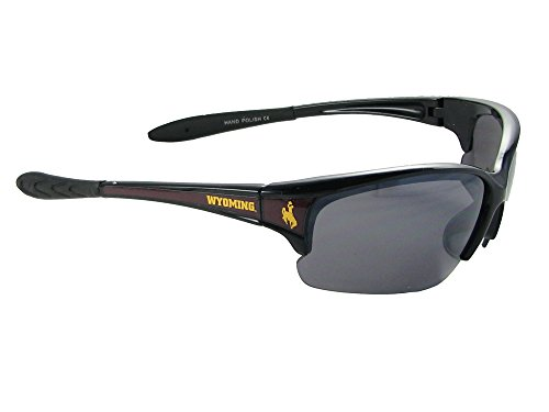 Wyoming Cowboys UWYO Black Brown Elite Mens Sunglasses S7JT