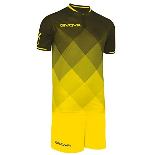 Givova, kit shade, negro/amarillo, L