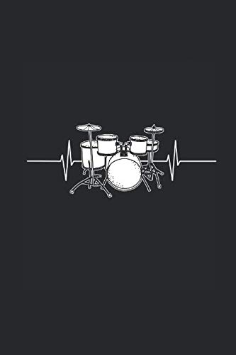 Drums Heartbeat: Drummer Music Novelty Instrument Gift ~ Small Lined