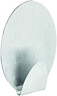 Gancho Oval Metálico Com Adesivo Ordene Br Prata